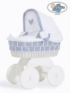 Moses Basket/Wicker crib with hood Marina no 70102-907*
