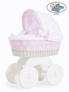 Moses Basket/Wicker crib with hood Isabella no 70102-908*