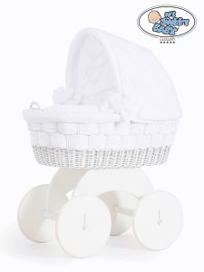 Moses Basket/Wicker crib with hood Bianca no. 70102-911*
