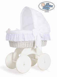 Moses Basket/Wicker crib with hood Sophia no. 70102-912