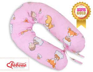 Pregnancy pillow - Longer- Forest animals pink