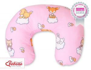 Feeding pillow- Basic Forest animals pink