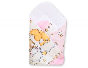 Baby nest with stiffenig- Basic Forest animals pink