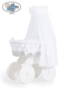 Moses Basket/Wicker crib with drape Bianca no. 70202-911*