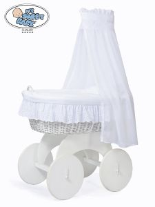 Moses Basket/Wicker crib with drape Sophia no. 70202-912