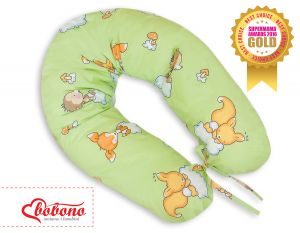 Pregnancy pillow - Longer- Forest animals green