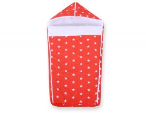 Pram sleeping bag- red stars