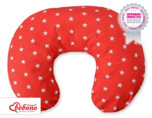 Extra cover for feeding pillow- Stars red