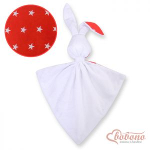 Cuddly rabbit double-sided- Red stars
