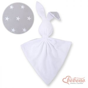 Cuddly rabbit double-sided- Gray stars
