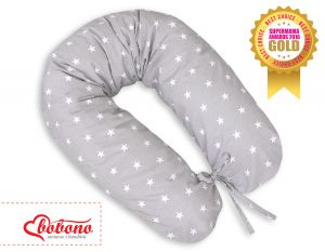 Pregnancy pillow- Grey Stars