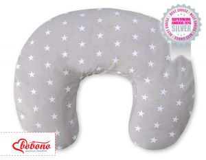 Extra cover for feeding pillow- Stars grey