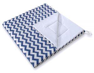 Double-sided teepee playmat- Chevron navy blue