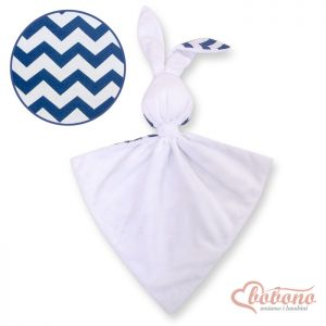 Cuddly rabbit double-sided-Chevron navy blue