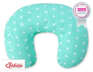 Extra cover for feeding pillow-  Mint Stars