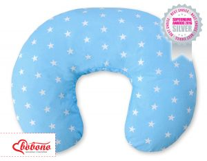 Extra cover for feeding pillow-  Blue Stars