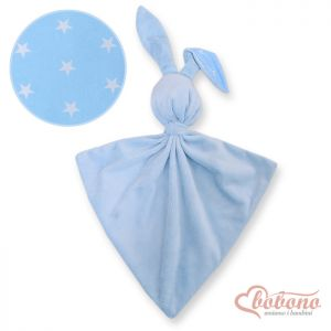 Cuddly rabbit double-sided- Blue stars