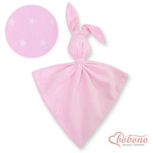 Cuddly rabbit double-sided- Pink stars