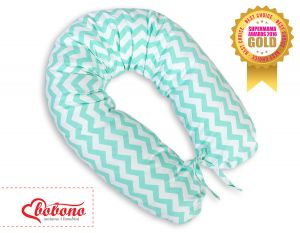 Pregnancy pillow- Chevron mint