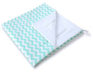 Double-sided teepee playmat- Chevron mint