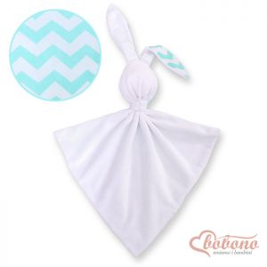 Cuddly rabbit double-sided- Chevron mint