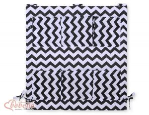 Cot tidy- chevron black