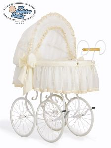 Retro wicker crib Eliza - Cream