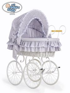 Retro wicker crib Victoria- Grey