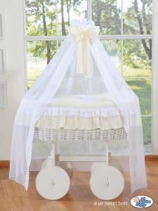 Wicker drape crib Deluxe- Bellamy cream