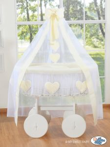 Wicker drape crib Deluxe- Amelie cream