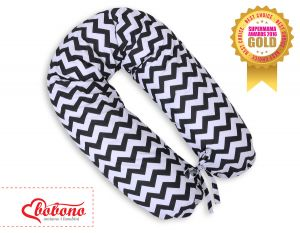 Pregnancy pillow- Chevron black