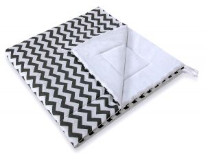 Double-sided teepee playmat- Chevron black