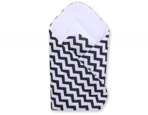 Baby nest with stiffenig- Black chevron