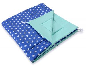 Double-sided teepee playmat- Stars navy blue