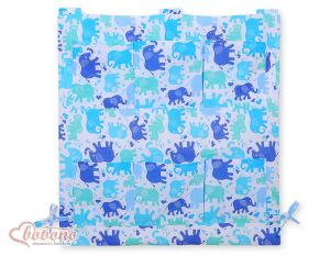 Cot tidy- Elephants blue