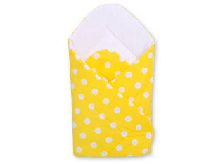 Baby nest with stiffenig- Yellow with white dots