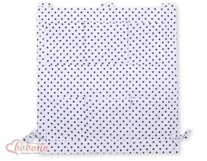 Cot tidy- white with blacko dots