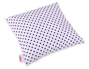Pillow case - white with black dots