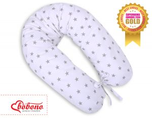 Pregnancy pillow- White with grey stars