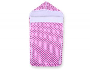 Pram sleeping bag- pink flowers