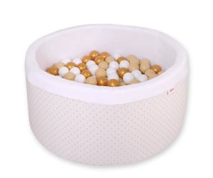 Ball-pit minky  with balls - golden Stars