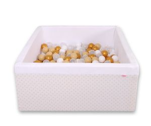 Ball-pit minky with balls 200pcs - golden Stars