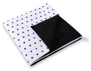 Double-sided teepee playmat- Black Stars/black
