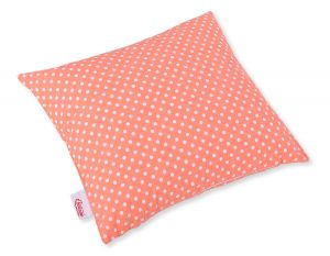 Pillow case - white dots on peach