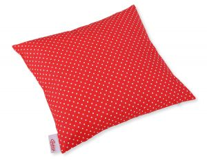 Pillow case - white polka dots on red
