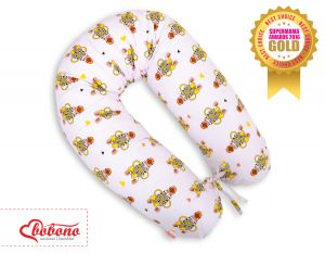 Pregnancy pillow- yellow zebras
