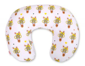 Extra cover for feeding pillow- yellow zebras