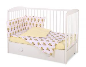 Bedding set 3-pcs - yellow zebras