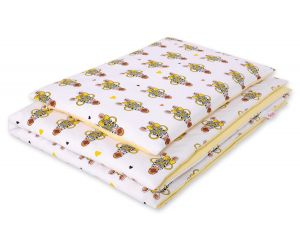 Bedding set 2pcs 100x135 Mini -yellow zebras