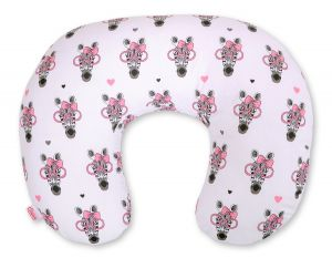 Extra cover for feeding pillow- pink zebras